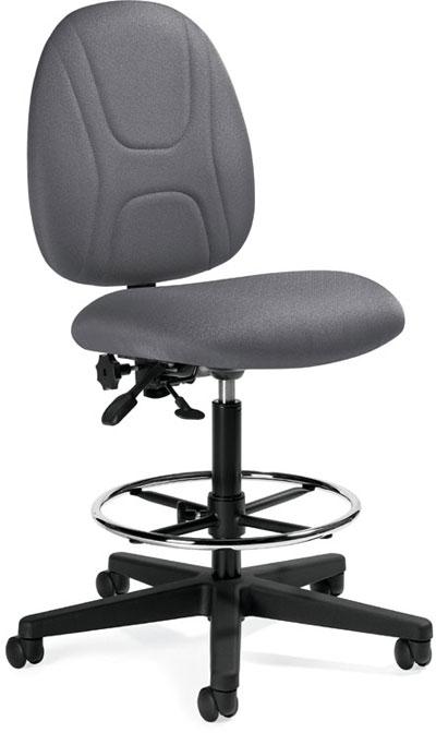 Beta Posture Task Drafting Chair Armless 20 5 W X 23 5 D X 44 H Mvl2719
